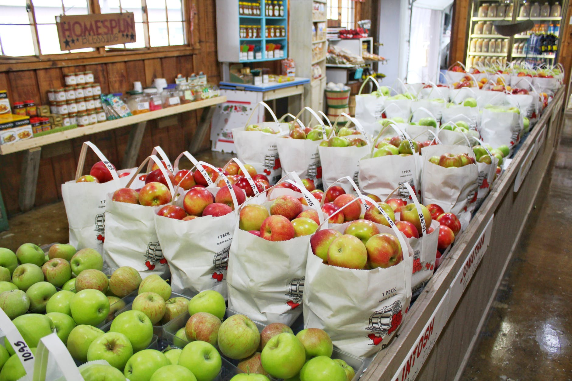Buy organic apples. Apples frequently make the dirty dozen list published by EWG.